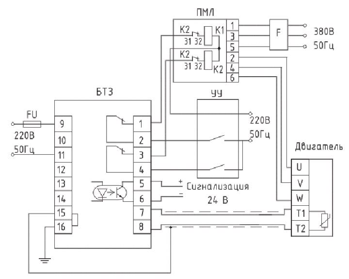 Рисунок 3. Схема электрических